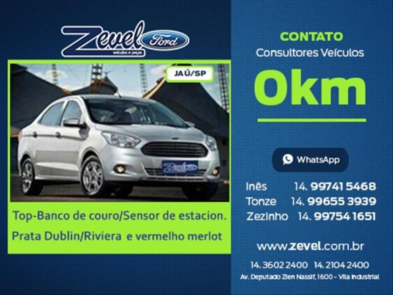 FORD KA SEDAN SEL PLUS 1.5 16V  FLEX