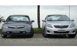 New Civic enfrenta o novo Toyota Corolla