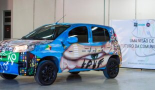 Fiat Uno 2015 é grafitado em projeto social