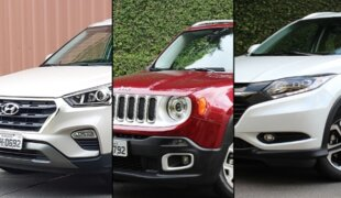 Em números:Creta Prestige, Renegade Limited ou HR-V Touring?