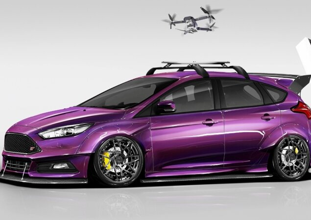 SEMA  Ford revela conceitos do Focus para o salão de tunados ... 3db7ce83ee