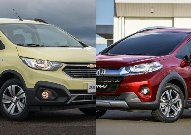 Chevrolet Spin Activ At Ou Honda Wr V Ex Cvt Em Nmeros